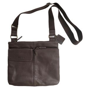 Roots Crossbody Leather and Nylon Bag Purse